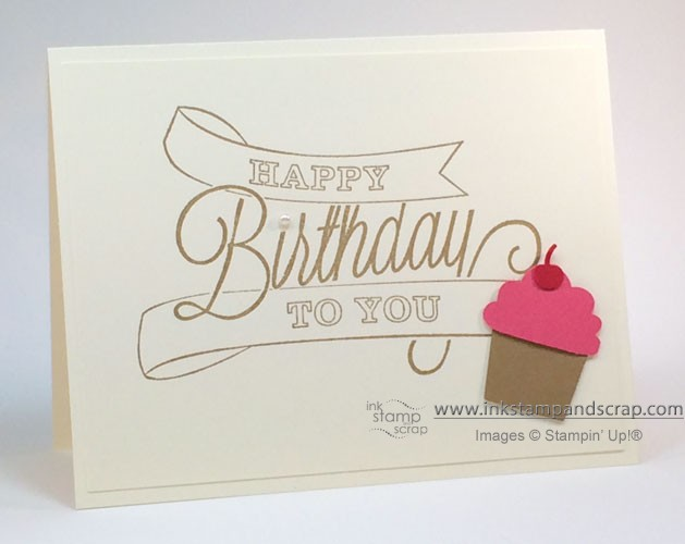 hand made card, stampin up, punches, cupcake punch, diy card making, birthday card