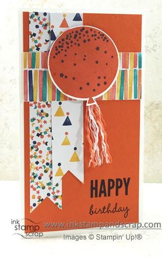 MOJO378, birthday card, bright, stampin up