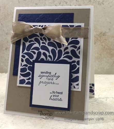sympathy card, big shot, embossing folder, petite pairs, occasions catalog, MOJO379