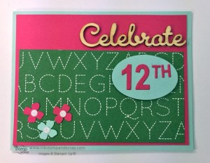 stampin up punches, back to school, scrapbook paper